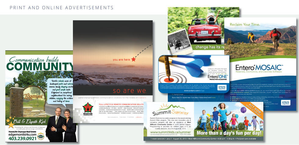 Print And Online Advertisements