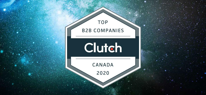 Clutch Canada Top B2B Company 2020